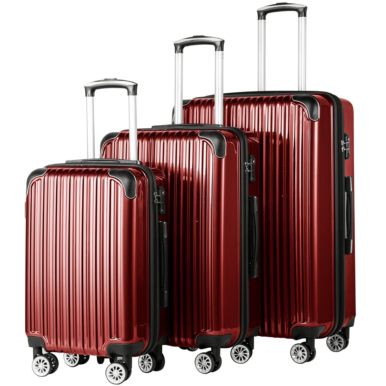 Coolife Luggage Expandable 3 Pie Spinner Suitcase Luggage Sets Luggage
