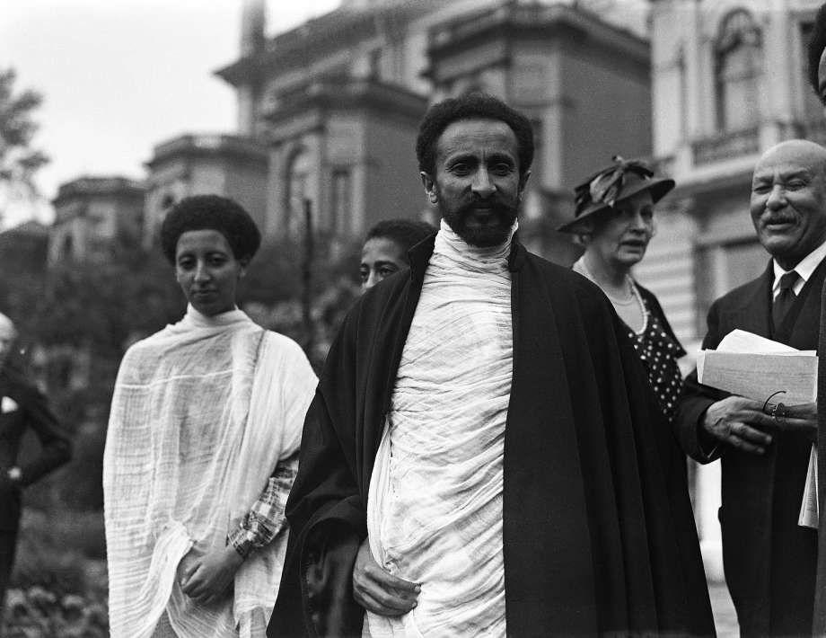 1935: Haile Selassie I exiled Emperor of Abyssinia, Emperor of ...