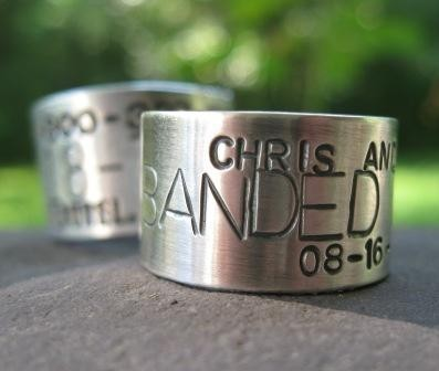 Personalized Sterling Silver Duck Band Wedding Ring Sterling Etsy Duck Band Wedding Ring Duck Band Ring Cute Engagement Rings