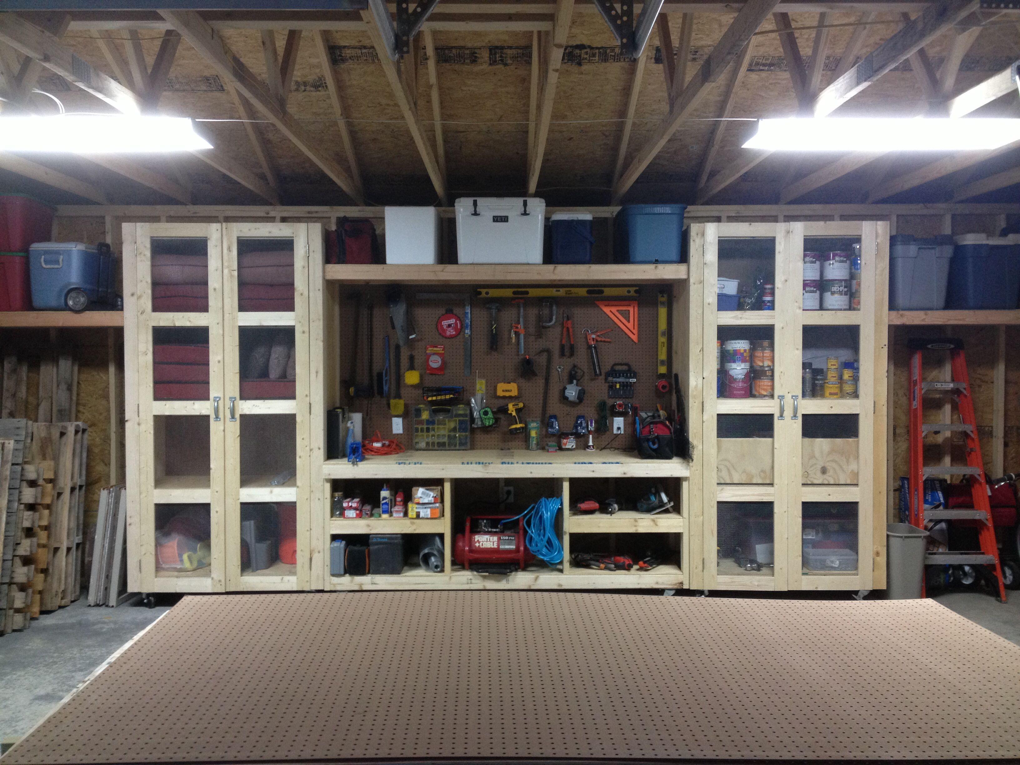 Custom garage storage garage workshop pinterest for Custom garage workshop