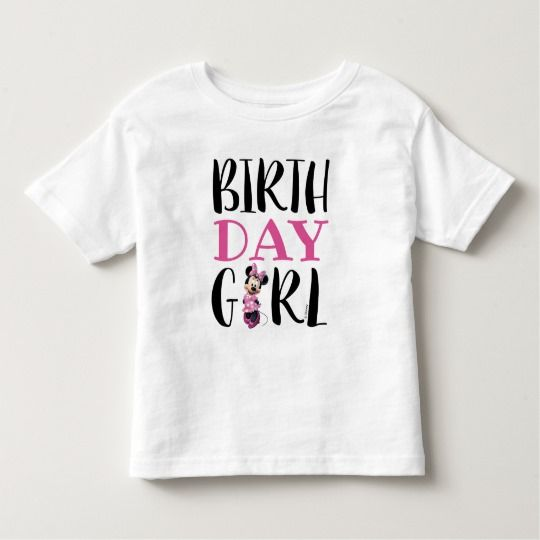Minnie Mouse | Pink & White Birthday Girl Toddler T-shirt |  Minnie Mouse | Pink & White Birthday Girl Toddler T-shirt