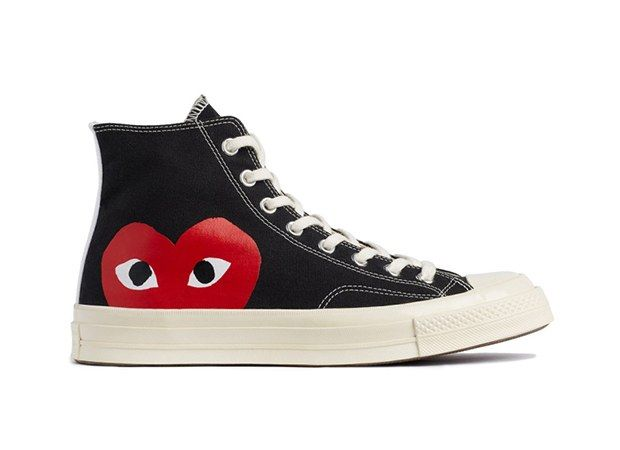 Comme Des Garcons Play X Converse Lets You Wear Your Heart On Your Feet Chuck Taylors Converse Chuck Taylor Converse