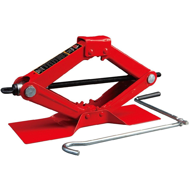 Torin Big Red T10152 Steel Scissor Jack, 1.5 Ton (3000 lb