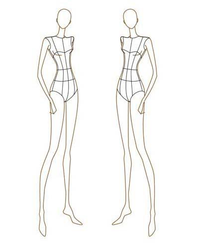 fashion design body sketches Fashion Style Share Creepy Croquis