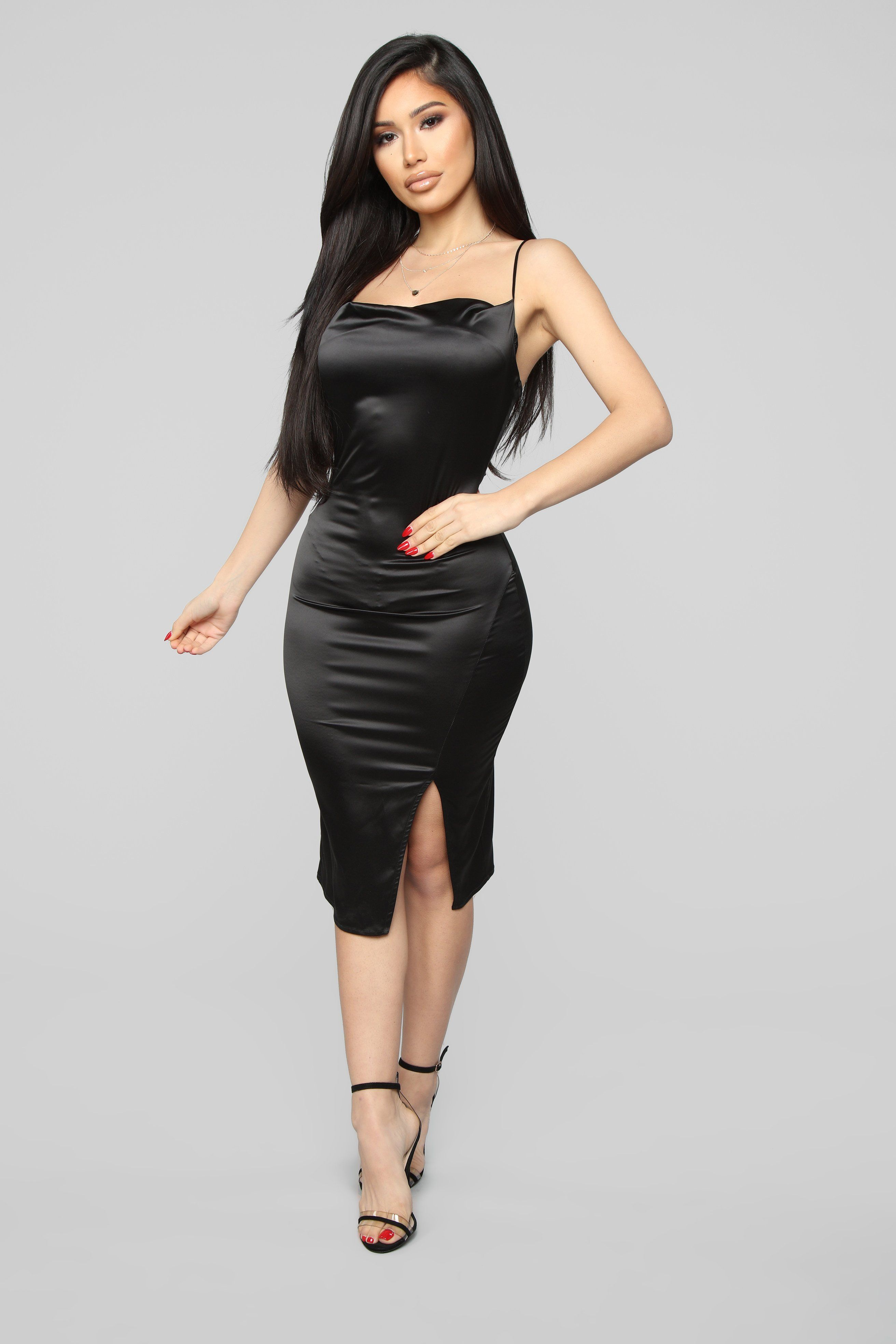 927a50a3803f I Know You See Me Midi Dress - Black in 2019 | hot | Dresses, Black ...