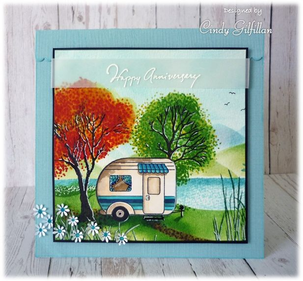 Heartfelt Creations Happy Camper I Want It All 3 Dies 3 Stamps Paper Van Holiday
