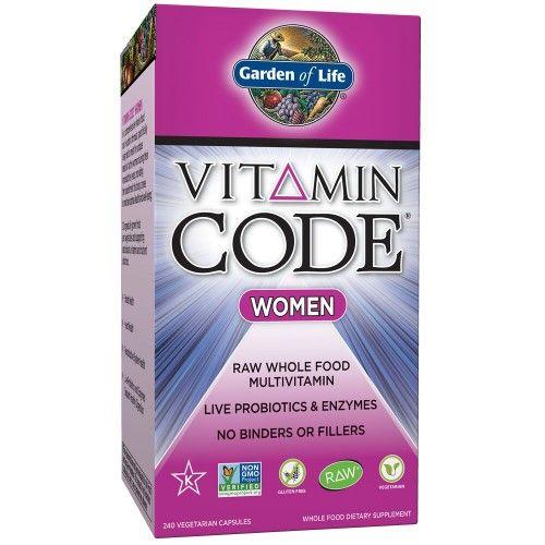 Garden Of Life Vitamin Code Women Capsules 240 Ct Brown Garden Of Life Vitamins Vitamin Code Good Multivitamin For Women
