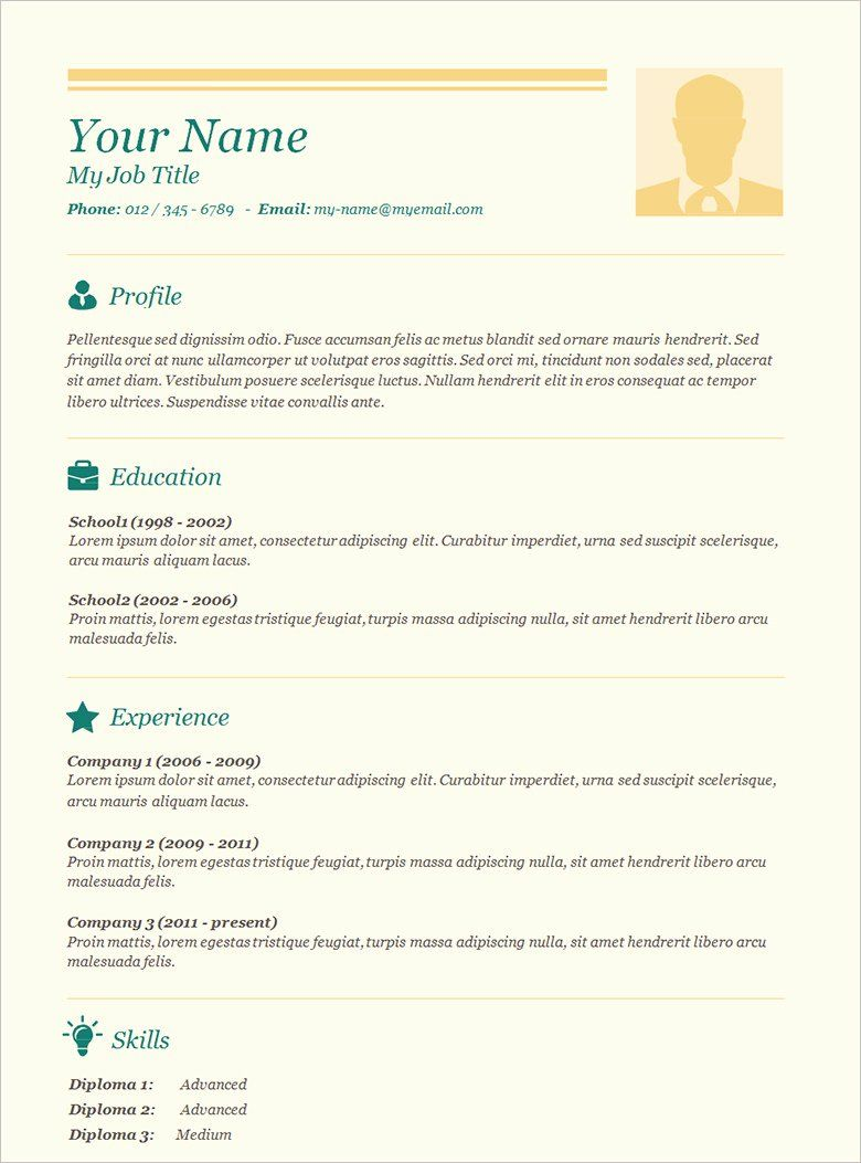 Resume Template with Picture Lovely 70 Basic Resume