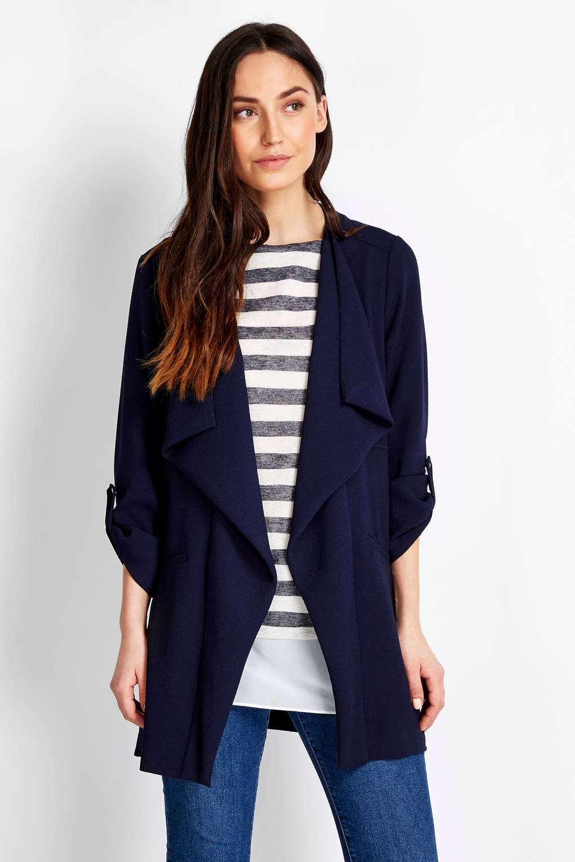Petite Navy Crepe Jacket - Wallis | Fashion | Pinterest | Wallis ...