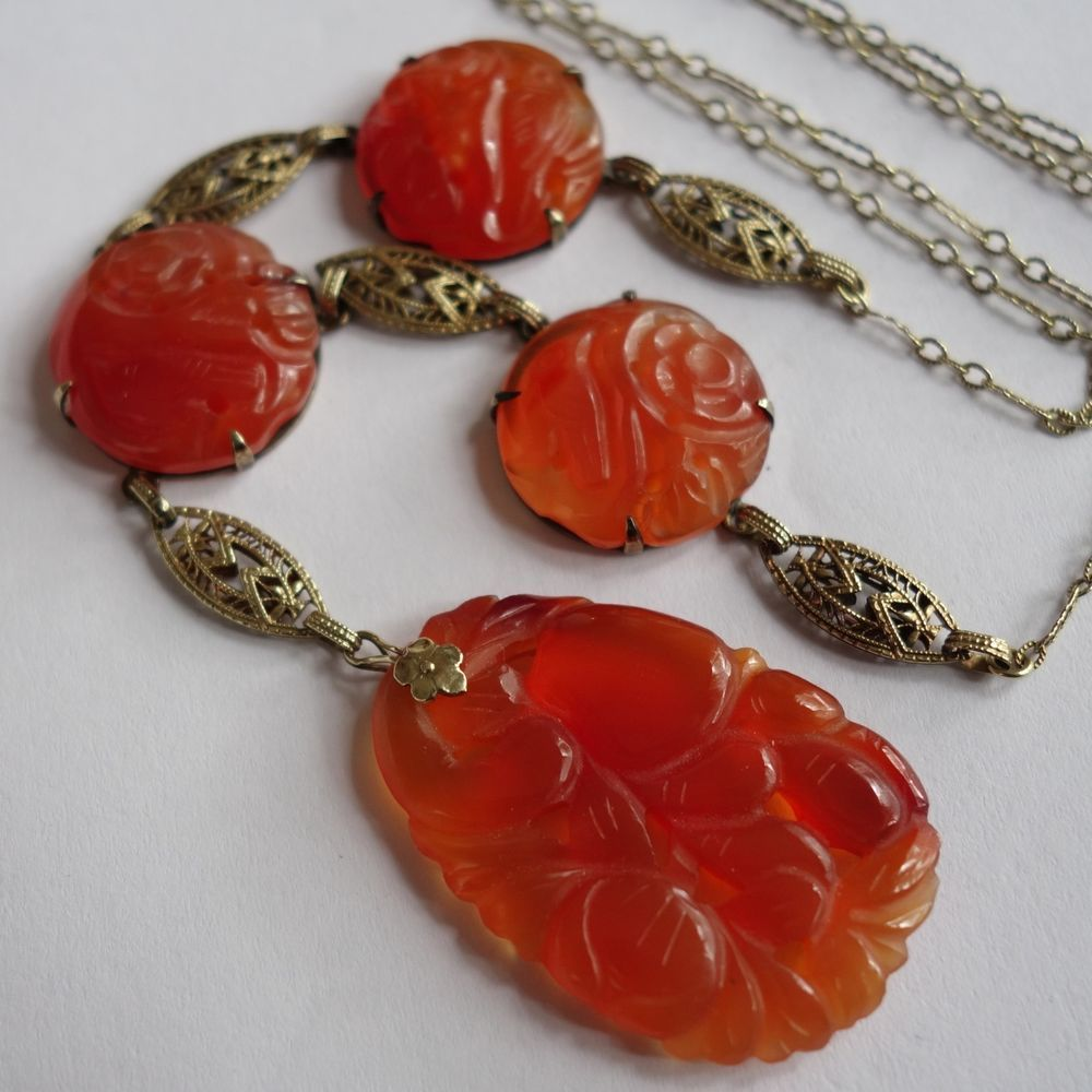 Vintage art deco chinese 14k gold carved carnelian pendant necklace vintage art deco chinese 14k gold carved carnelian pendant necklace unbranded pendant mozeypictures Gallery