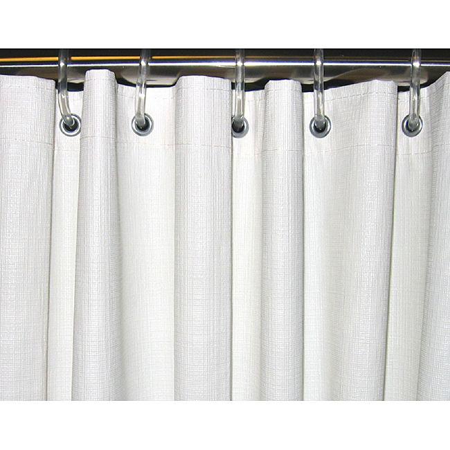 Csi Bathware 54x72 White Vinyl Shower Curtain Pack Of 10 54 X72