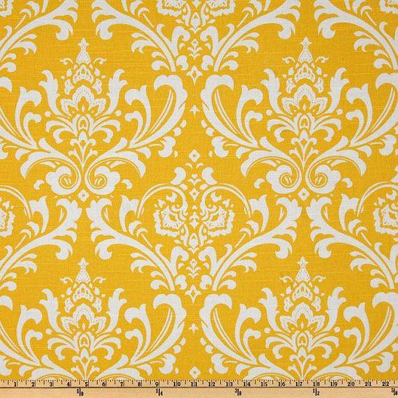 Premier Prints Ozborne Slub Yellow  Damask by FabricsfromIndia, $11.00  bedroom