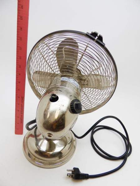 Airtech Oscillating Desk Fan Stainless Steel Nice | Young Again Fans