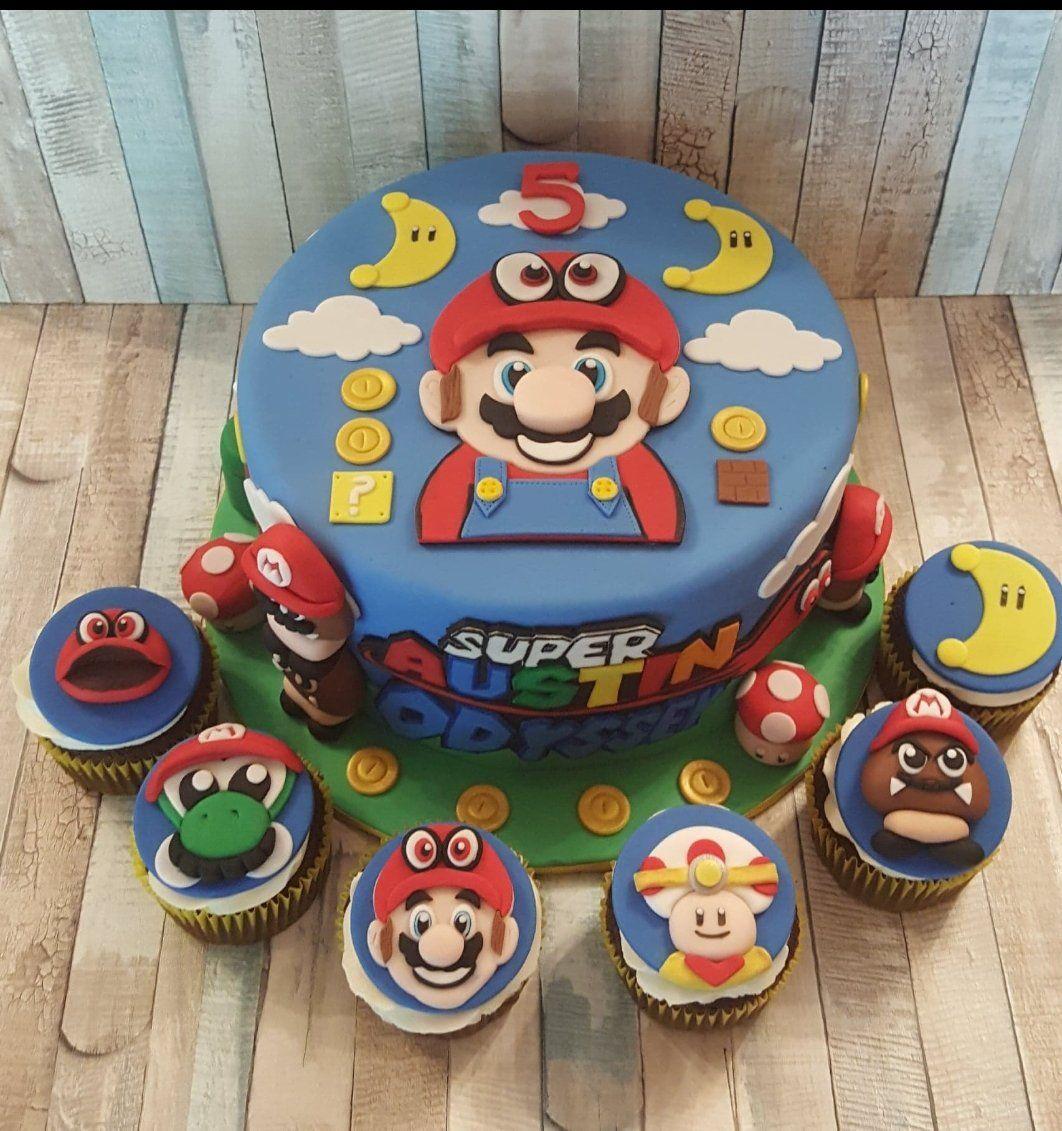 My son's birthday cake for tomorrow NintendoSwitch
