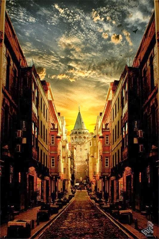 Galata Tower, Istanbul - At night you could see the whole city from the deck, really amazing sight !