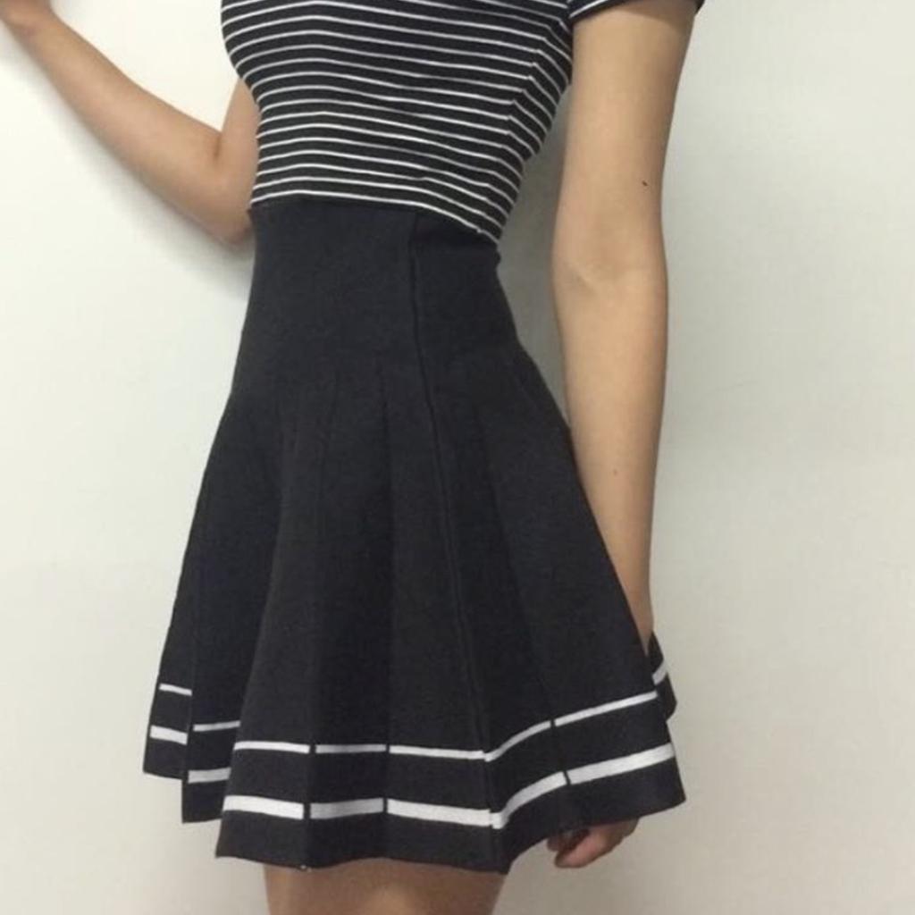 kawaii tumblr high waisted skirt flash kokopiecoco