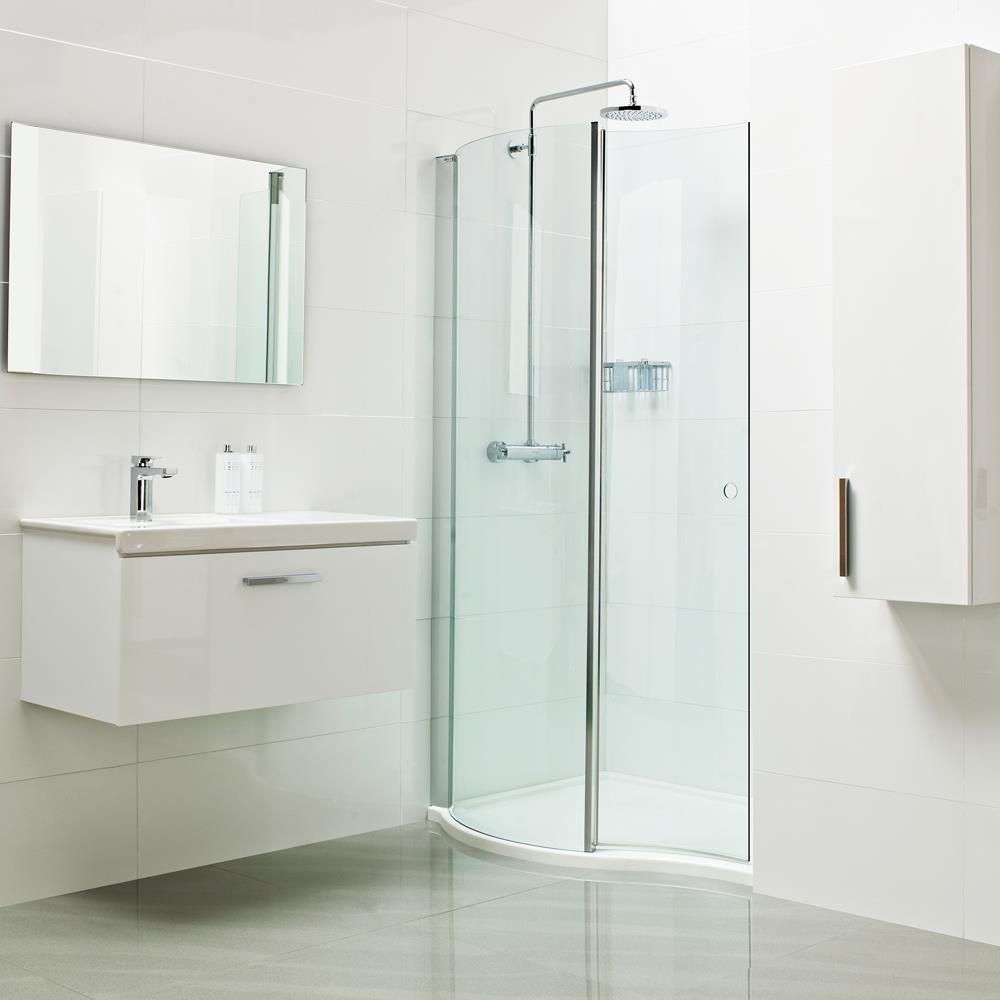 Lumin8 wave walk in shower enclosure create a true style statement in your bathroom with our - Luxury shower cubicles ...