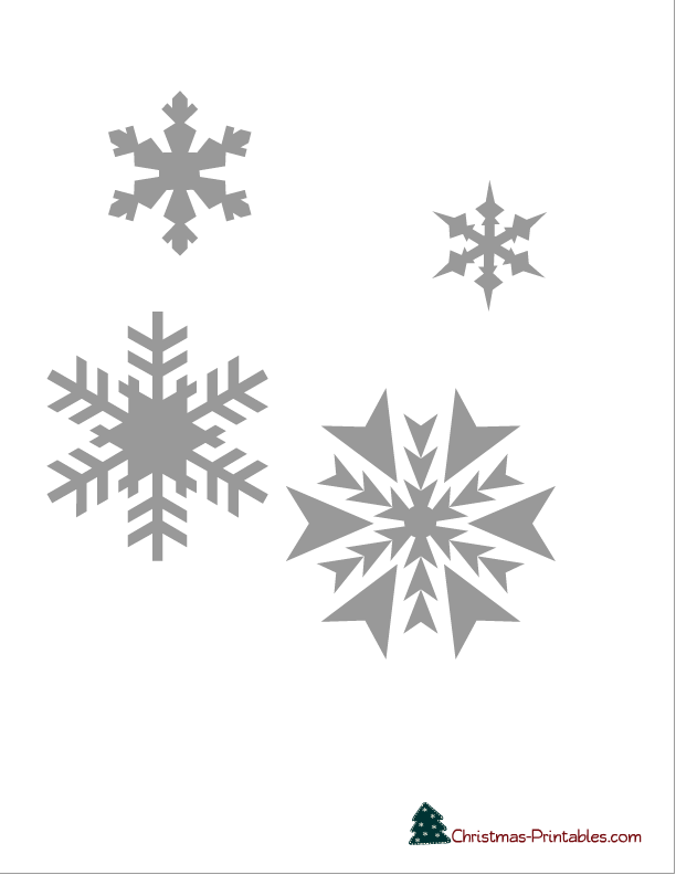 photograph regarding Christmas Cutouts Printable named Snowflake Printable Stencils towards employ for decorating cake