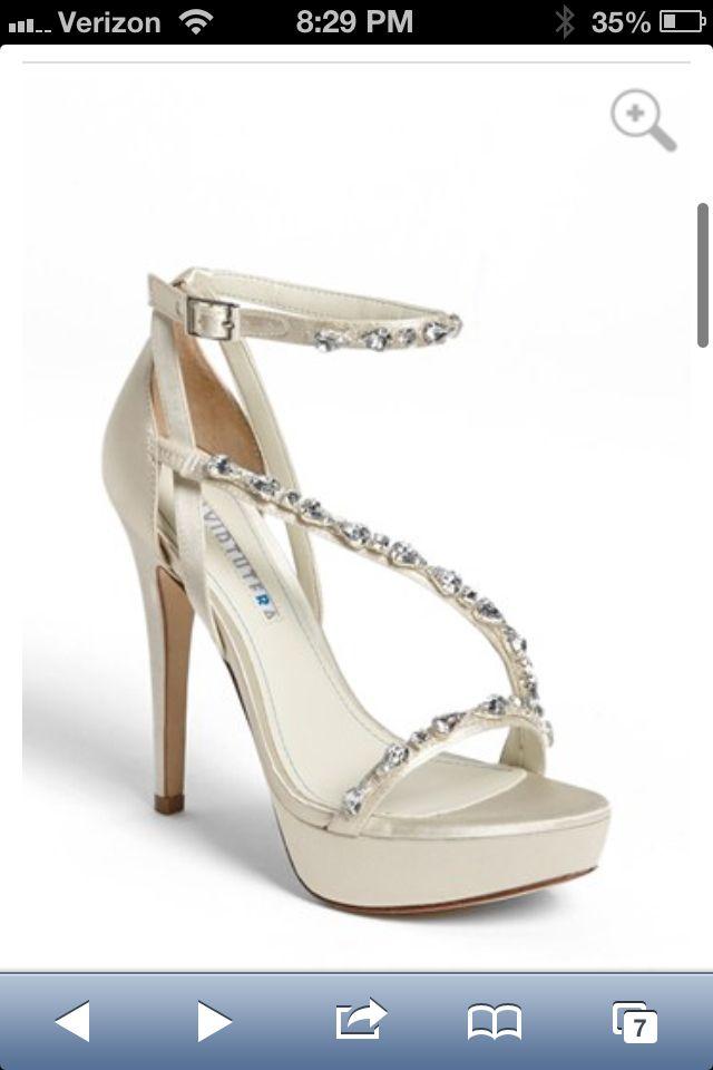 David Tutera Cascade Sandal Bridal Shoes Unique Wedding Shoes Pumps Online
