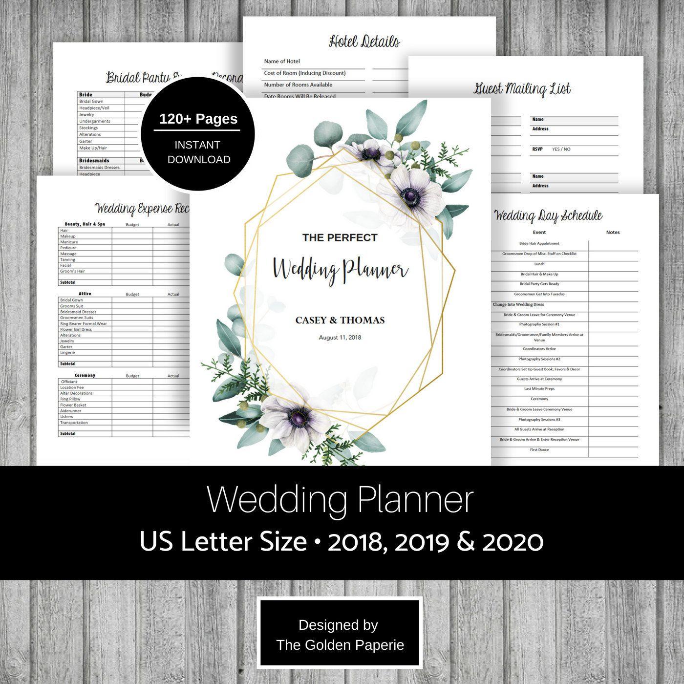 Wedding Planner Printable Wedding Planning Book