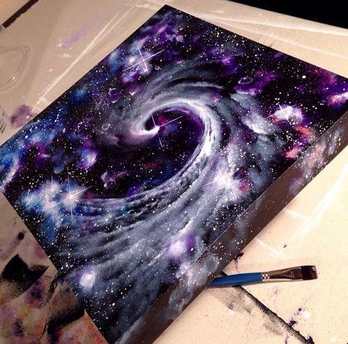 Galaxy On Canvas Galaxy Painting Galaxy Art Diy Art