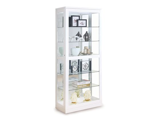 Charming Scandinavian Designs   The Sonema Display Unit Features A Tempered Glass  Locking Door That Slides Open, Five Adjustable Shelves And A Mirrored Back.