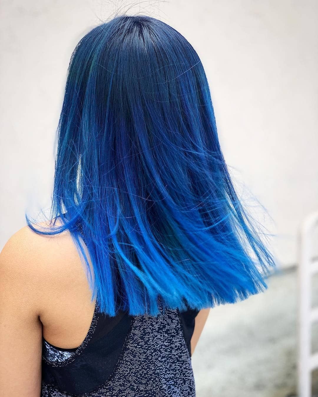 Women Hair Inspo On Instagram Nope Or Yassss By Desi Doos Unicornhair Beaut Bright Blue Hair Hair Color Blue Blue Hair Color Highlights