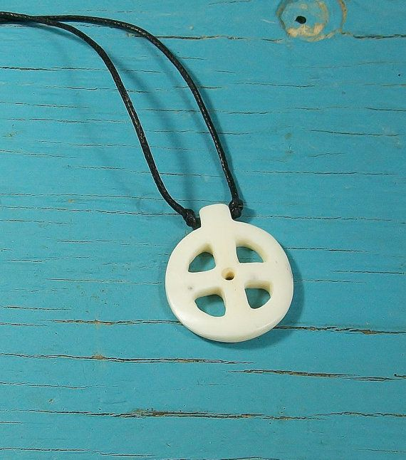 Wheel carved bone pendant ancient sun cross sun wheel carved bone pendant ancient sun cross aloadofball Choice Image