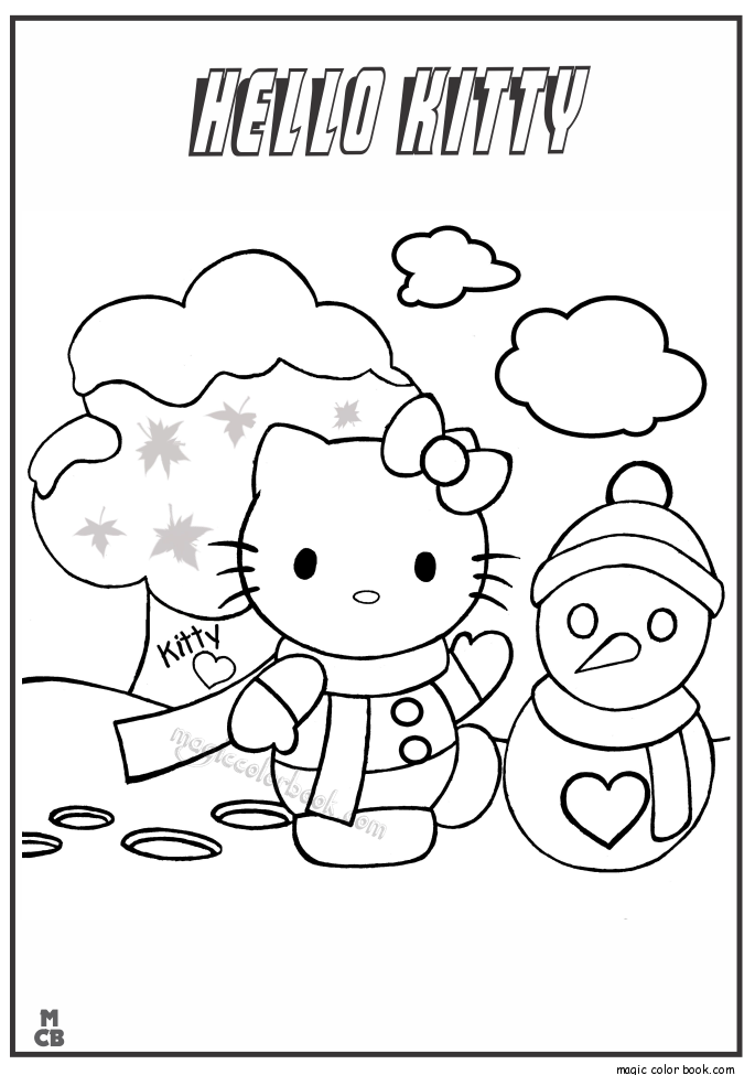 Pin de Magic Color Book en Hello Kitty Coloring pages free online ...