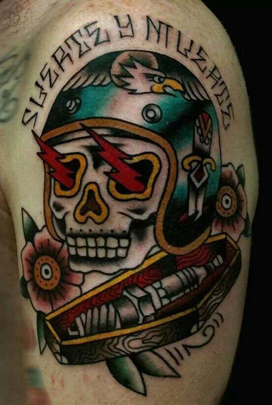Old school biker tattoos google search sailor jerry for Tattoo school listings
