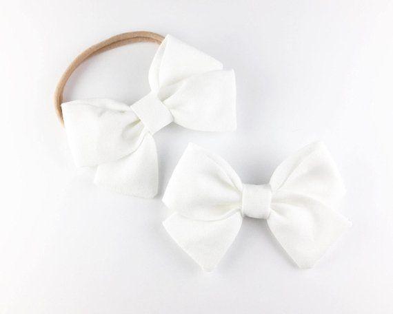 0b3b275387e4 Classic White Bow - Baby