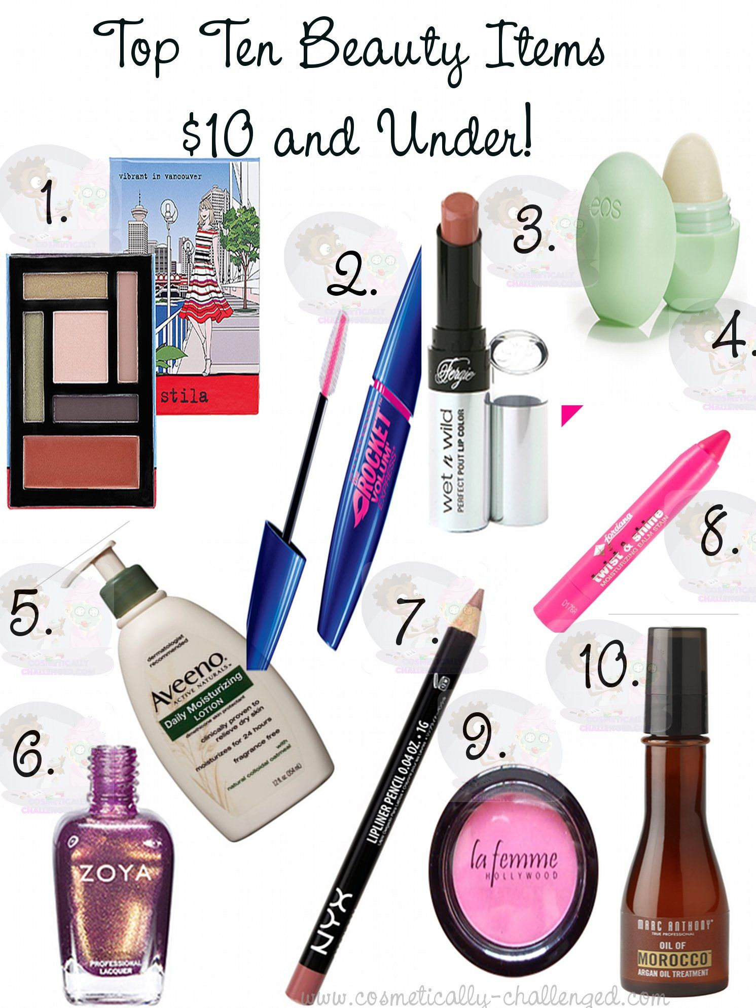 Top Ten Beauty Finds Under 10 for budgenista in you