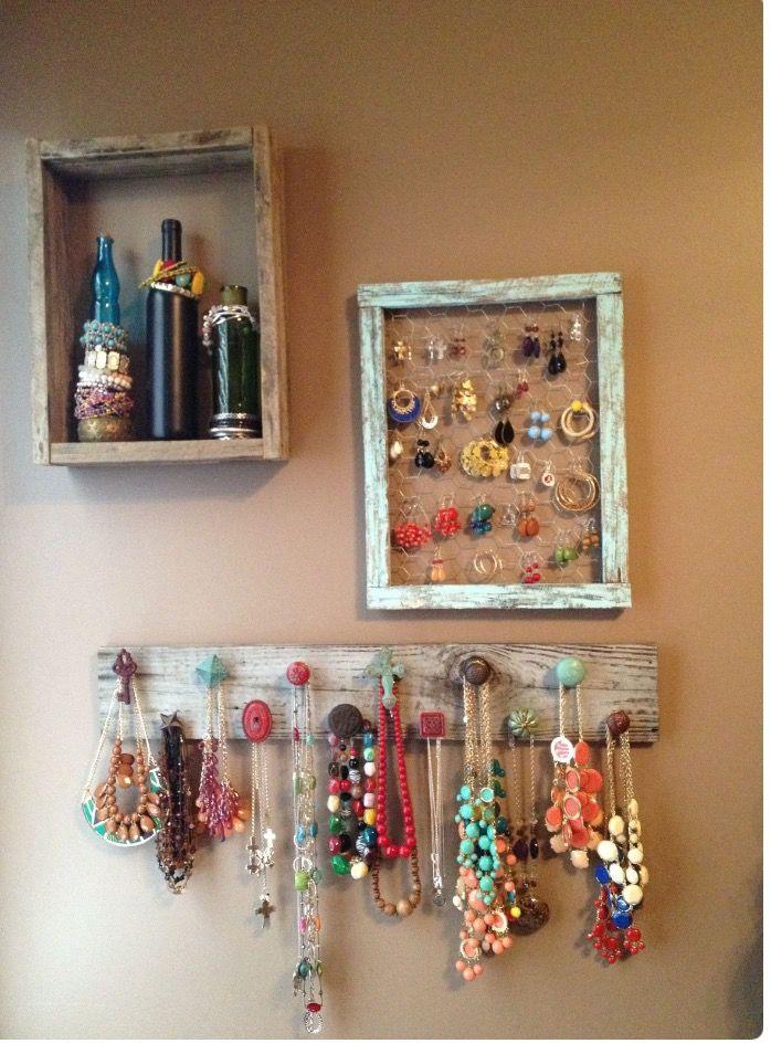 Ideas para organizar collares pendientes pulseras y - Percheros para collares ...