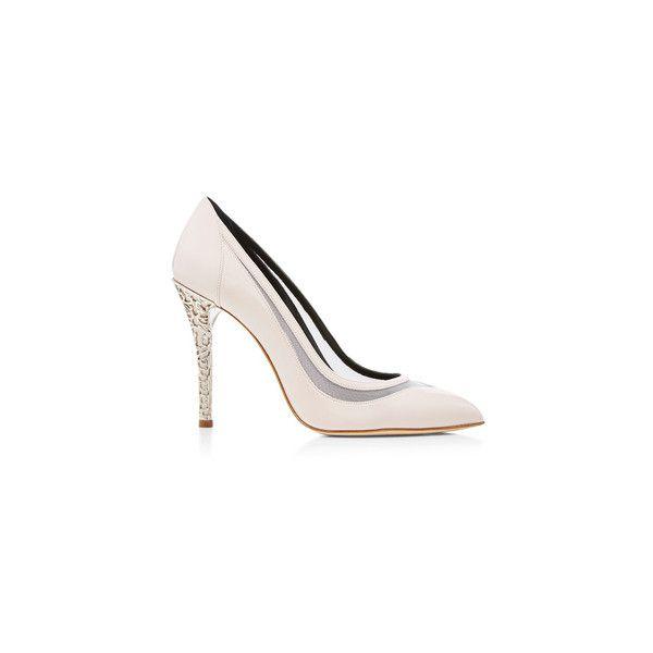 Oscar de la Renta Zelda pumps (£680) ❤ liked on Polyvore featuring shoes, pumps, slip-on shoes, black pumps, black slip on shoes, black slip-on shoes and pointed toe shoes