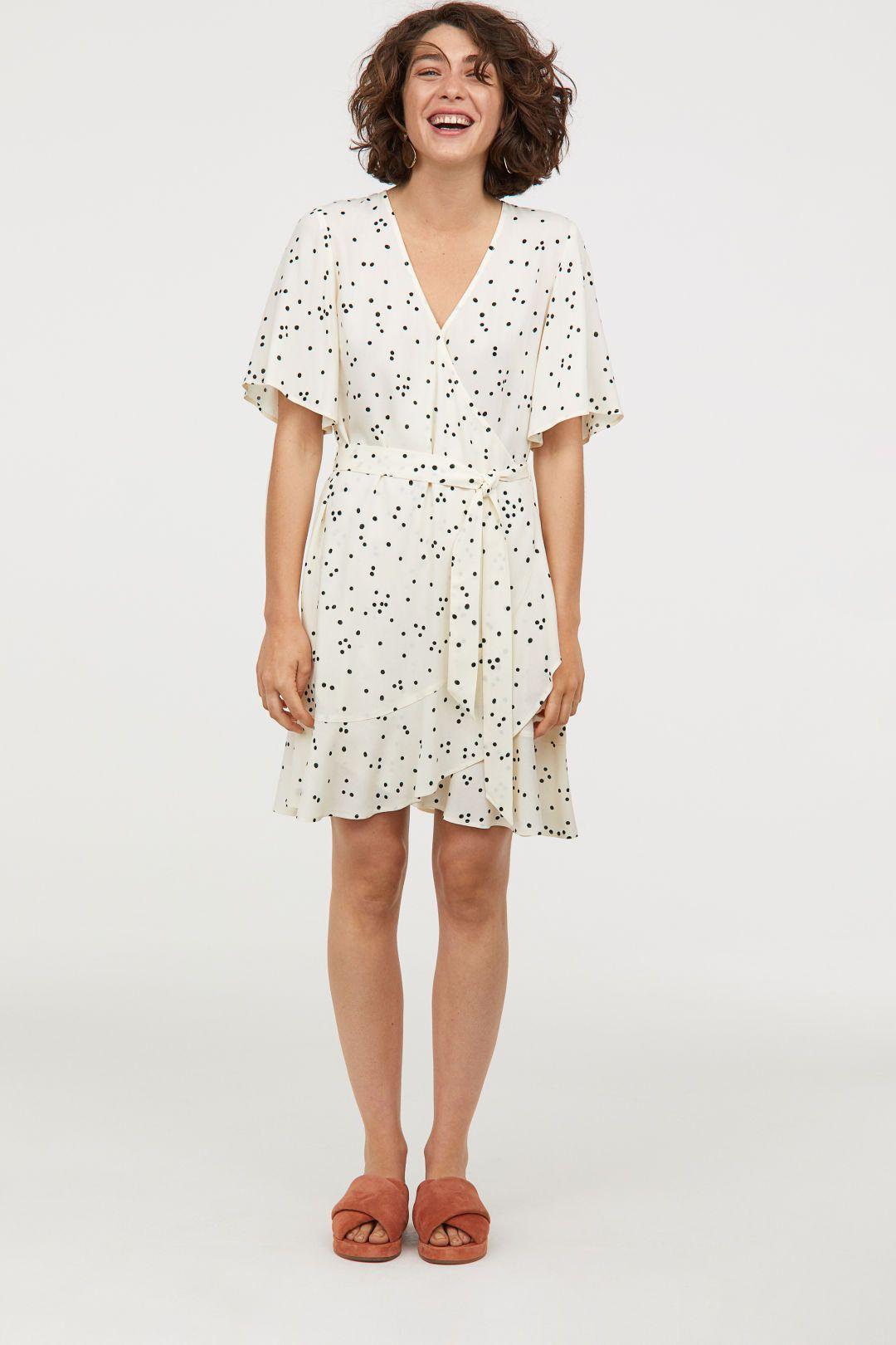 761c3135fa54 Wrap dress with a flounce | Spring Pickings | Dresses, Wrap dress ...