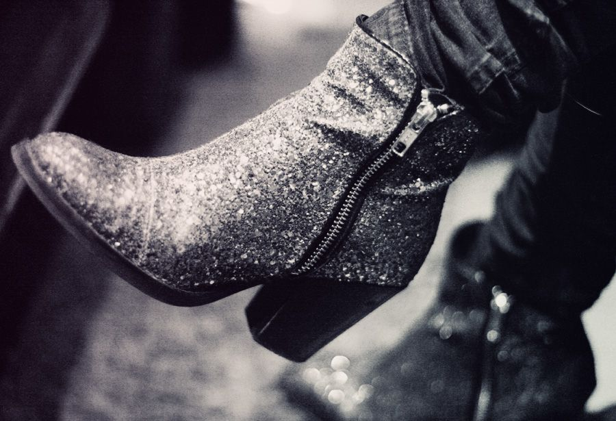 Glitter Boots - Topshop