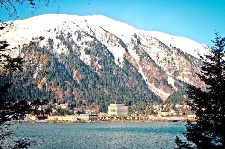Juneau, Alaska on Deep Red Blues