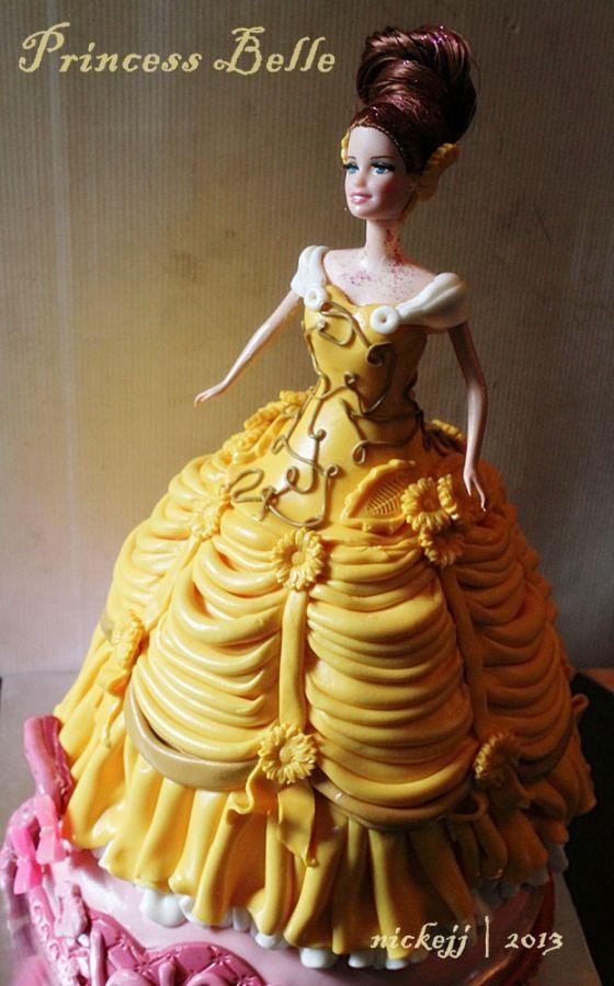 Princess Belle Doll Cake Pinterest Princess belle Belle cake