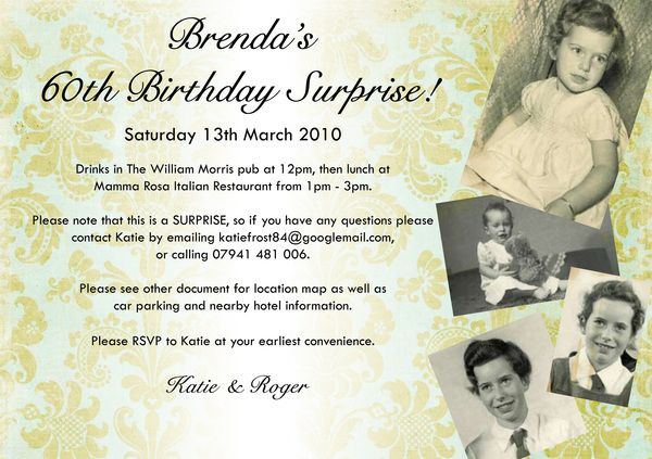 Surprise 60th Birthday Party Invitation By Katie Frost Via Behance