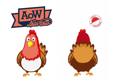 Desain Logo Mascot Ayam Abon Aow Kebun Design Jasa Desain Grafis Karawang Desain Logo Ayam Desain Grafis