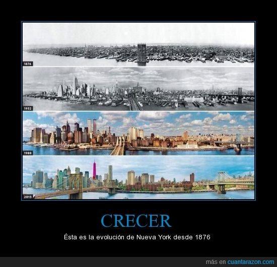 CRECER - Ésta es la evolución de Nueva York desde 1876