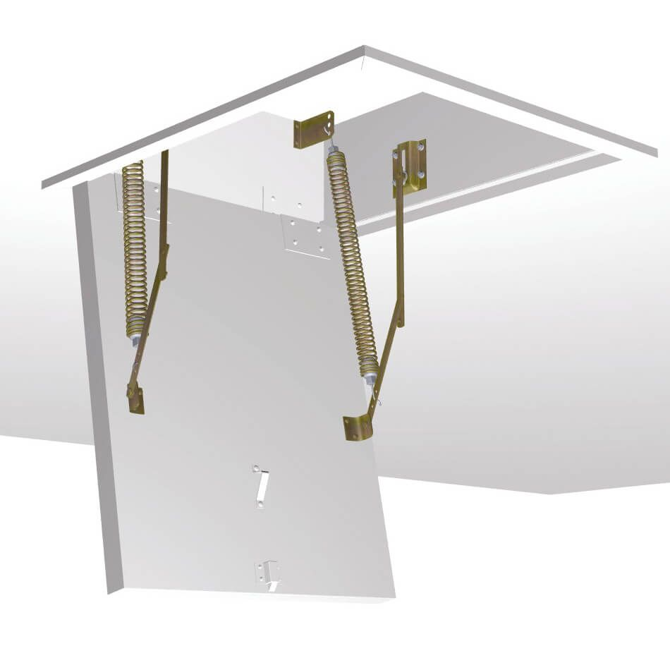 Spring Hardware Set For Customer Manufactured Ceiling Hatch Box And Trapdoor Loft Ladder Loft Aluminium Ladder