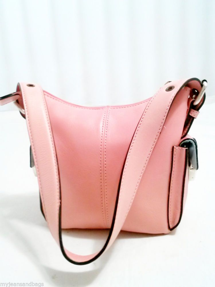 Hype Leather Purse ,Shoulder bag in Pink, Small Compact Shoulder Bag.