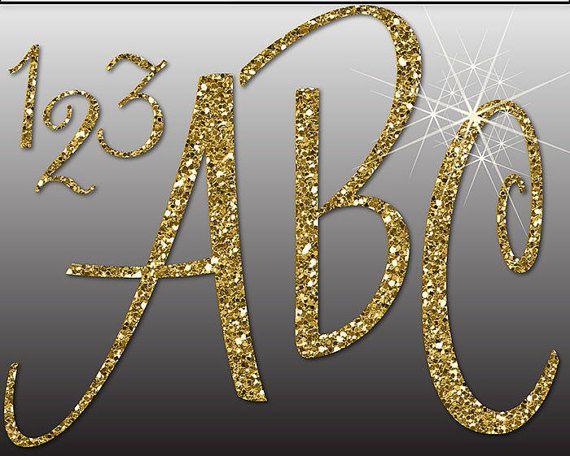 Glitter Alphabet Digital Clipart Letters Numbers Symbols Etsy Digital Clip Art Clip Art Gold Letters