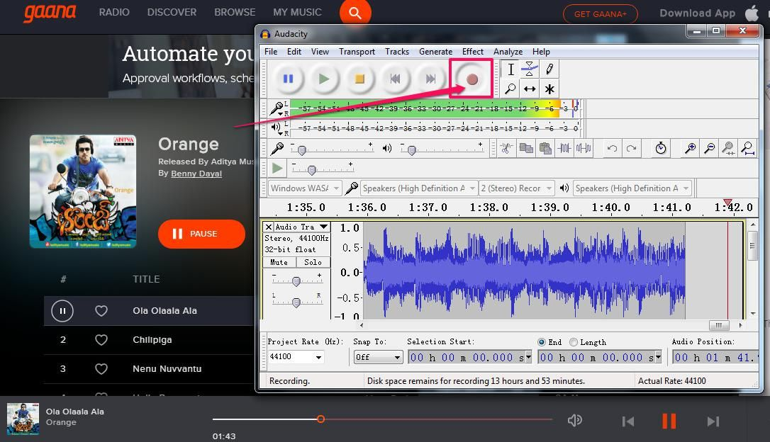 Free-Download-Gaana-Telugu-Songs-Audacity | audio downloader | Free