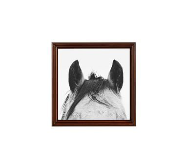 "Listening Framed Print by Jennifer Meyers, 18 x 18"", Ridged Distressed Frame, Espresso, No Mat"