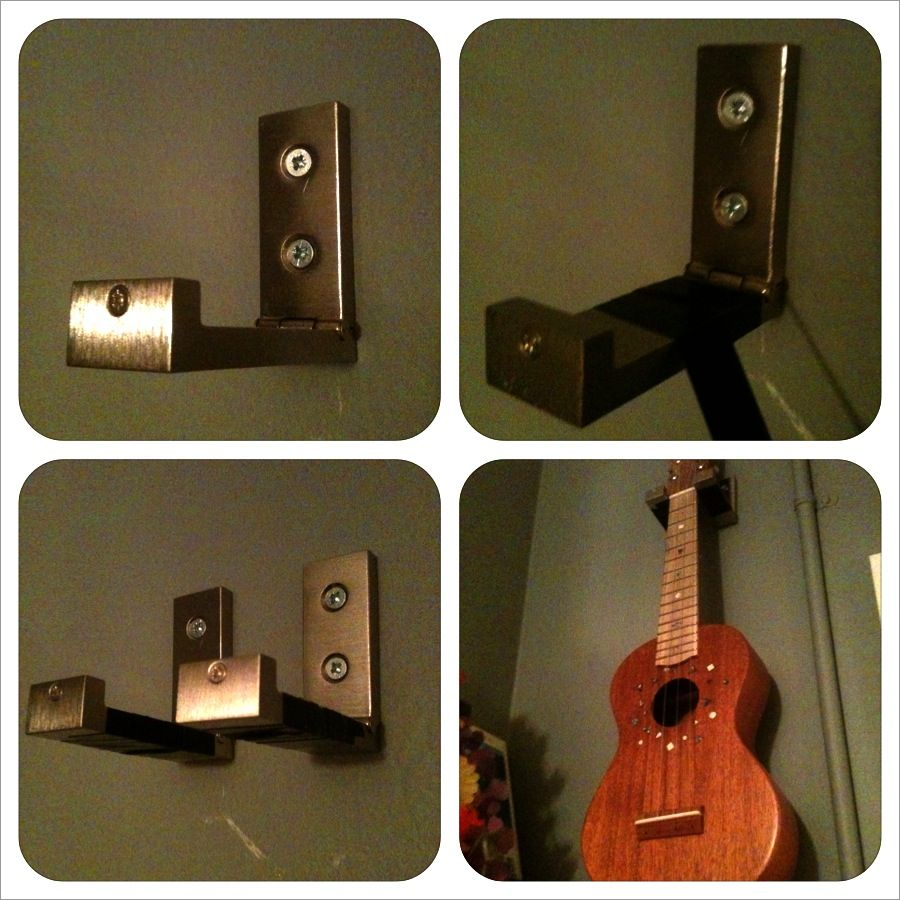 Reuse A Couple Of Ikea Hooks As Wall Hangers For A Guitar