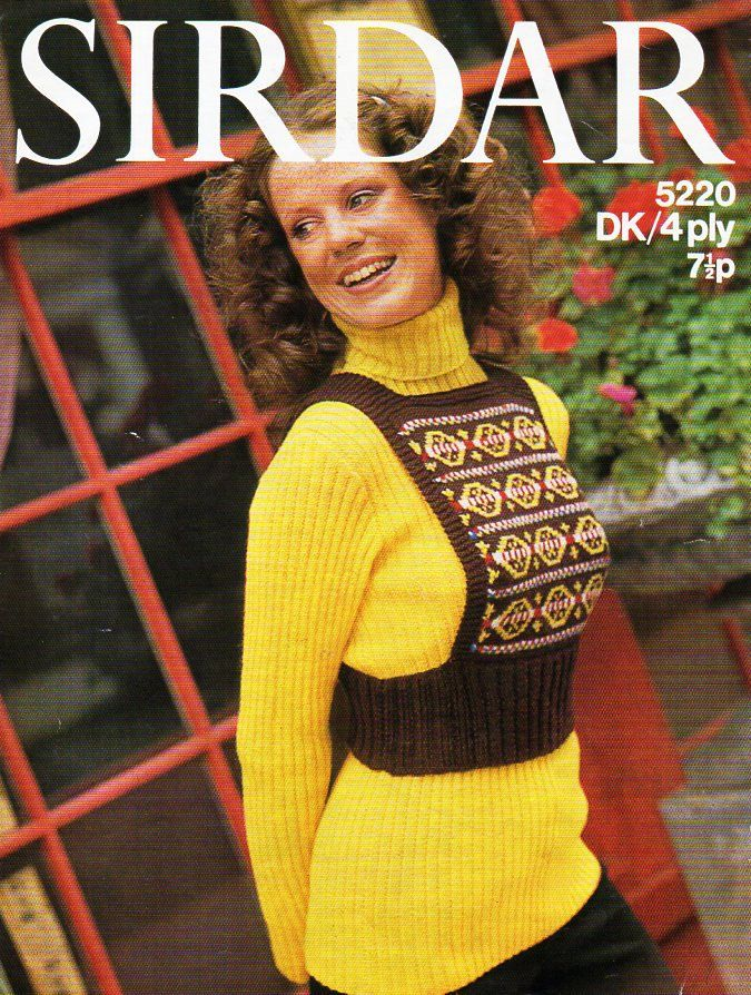 ladies sweater & tank top knitting pattern PDF womens ribbed polo ...