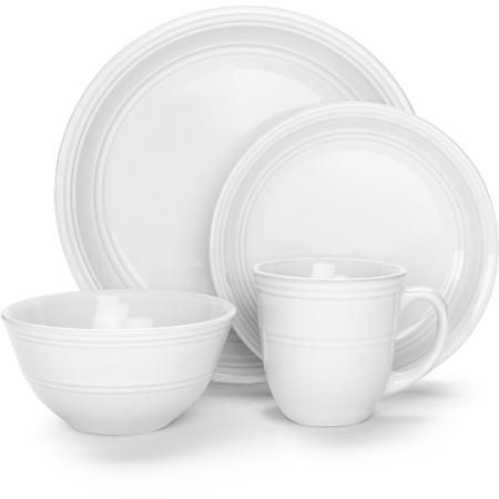 Mainstays 16-Piece Stoneware Dinnerware Set Assorted Colors - Walmart.com  sc 1 st  Pinterest & Mainstays 16-Piece Stoneware Dinnerware Set Assorted Colors ...