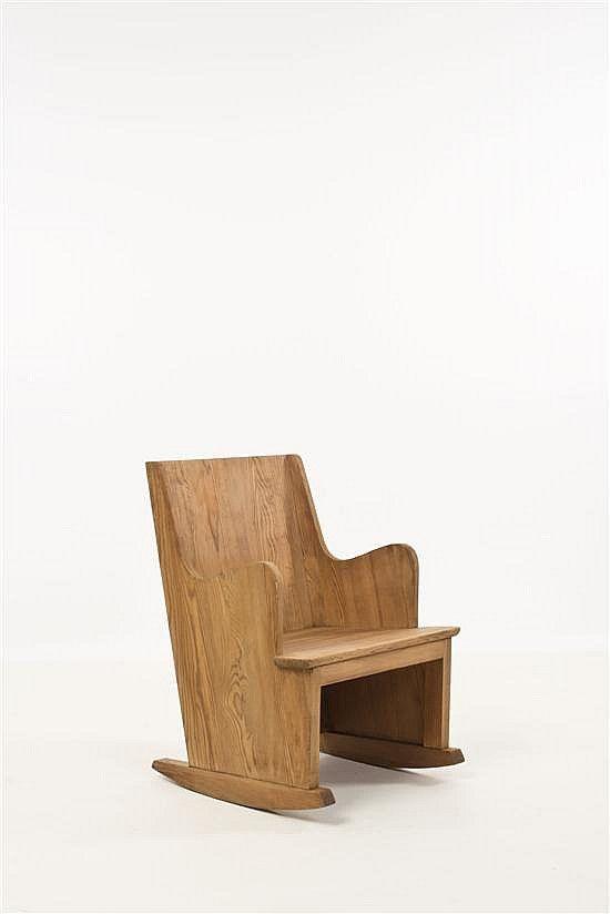 Axel Einar Hjorth; Pine U0027Lovö U0027 Rocking Chair, 1930s.